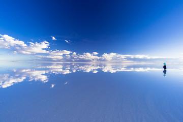 Fotomurales - ミラーレイク・ウユニ塩湖の絶景