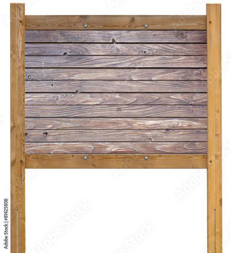 panneau d 39 affichage en bois naturel brut photo libre de. Black Bedroom Furniture Sets. Home Design Ideas