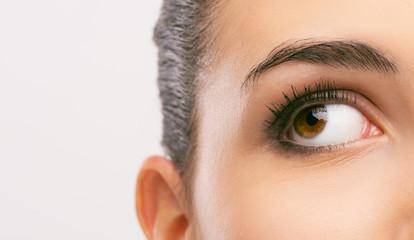 Beautiful woman's eye close-up