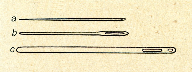 Needles and bodkin (c)
