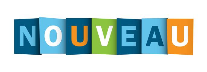 """""""NOUVEAU"""" (nouveautés actualités publicité découverte icône)"""