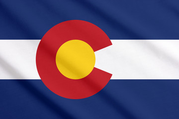Colorado flag waving