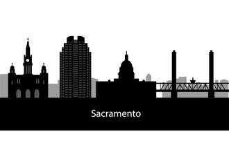 Sacramento skyline Detailed vector silhouette