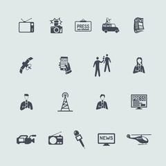 Set of news icons