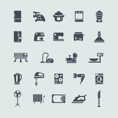 Set of white goods icons
