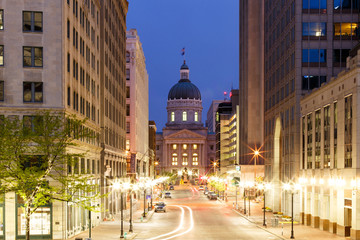 Indianapolis Statehouse from Monument Circle