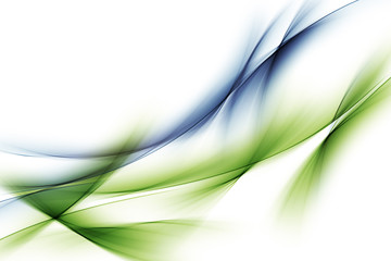 Wall Murals Abstract wave Blue Green Waves