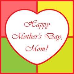 Mothers Day greeting card - with heart