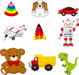 Illustration of Kid's toy collection