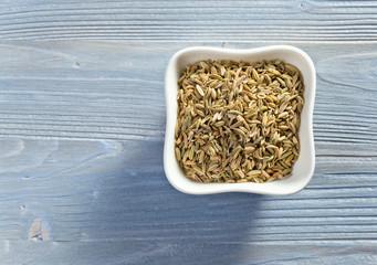 fennel on wooden table