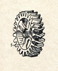Chevron wheel