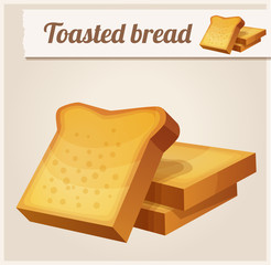Toasted bread. Detailed Vector Icon