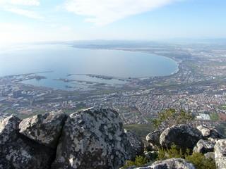 Cape Town Hafen Blick von Devils Peak