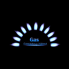 Gas Flame Illustration