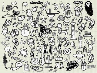 Big Vector Doodle Icons Universal Set