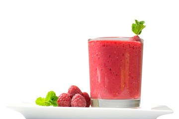 Healthy fresh  delicious homemade raspberry smoothie