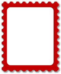 Briefmarkenvorlage in Rot