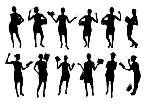 Business Women Silhouettes