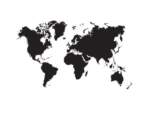shape of world map