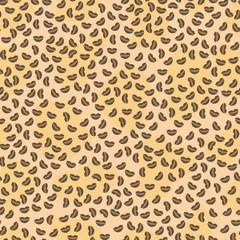 Abstract seamless pattern resembles the color of the leopard.