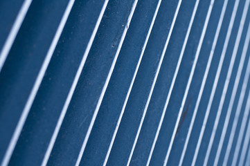 Blue wall with parallel lines