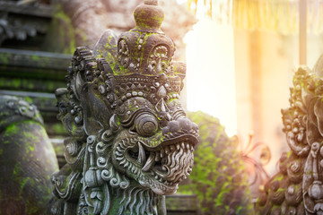 Balinese stone sculpture art and culture