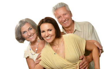 elderly parents with daughter
