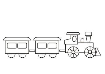 train, coloring book