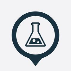 laboratory icon map pin