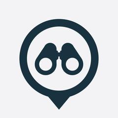binoculars icon map pin