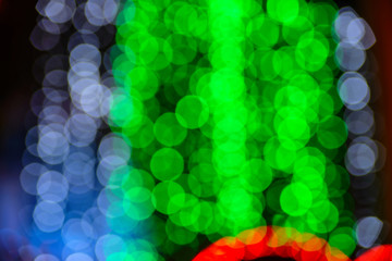 Holiday lights bokeh background