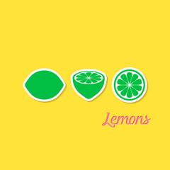 Creative design with lemons