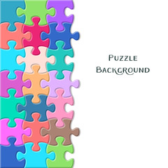 Card with puzzle pieces
