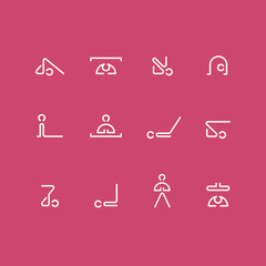 yoga class icons