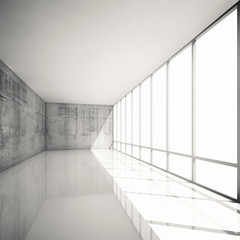 Abstract 3d modern architecture background, empty interior
