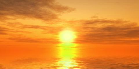 Fantastic sunset over the sea