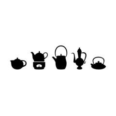 Teekannen Silhouetten