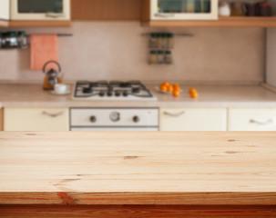 Kitchen interior wooden table