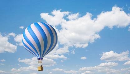 Blue-white balloon