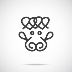 Vector sheep icon. Creative graphic logo design element