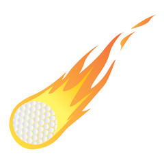 Golf Ball in Fire