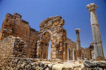 Volubilis is a Roman city in Morocco situated near Meknes