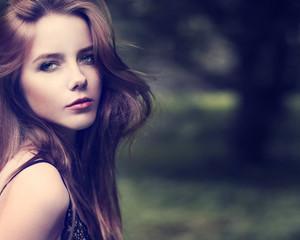 Fototapeta portrait of a beautiful seductive girl