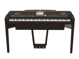 Electric piano isolated