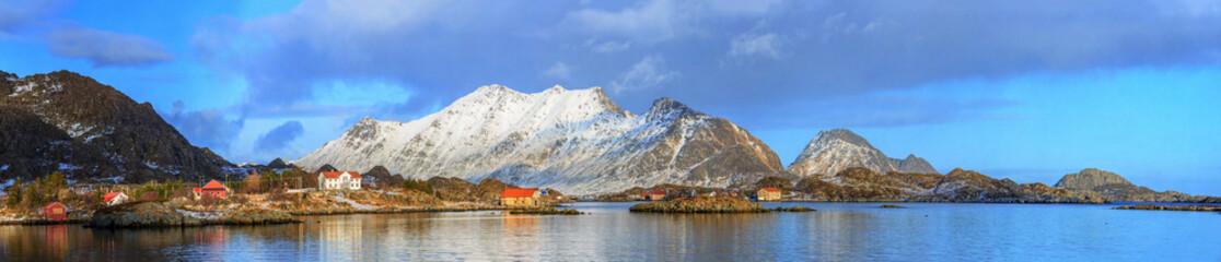 Tuinposter Scandinavië fishing villages in norway