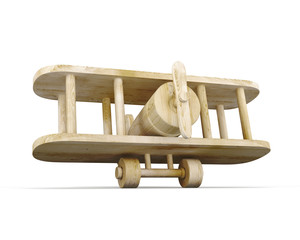 Toy wooden plane