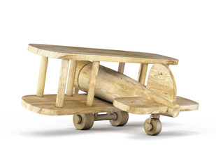 Wooden plane close-up