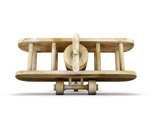 Wooden plane front view