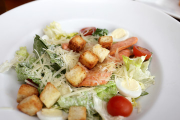 Caesar salad with fish