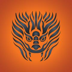 Dragon logo vector design template, dragon icon.